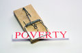 Poverty trap a mouse that has trapped a that poor people can get caught in Royalty Free Stock Image