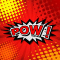 Pow comic speech bubble cartoon Royalty Free Stock Photography