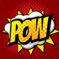 Pow pop art, comic book background