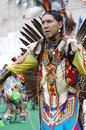 Pow wow dancer of the plains tribes of canada a gathering aboriginal peoples who come together to share dance song food stories Royalty Free Stock Photos
