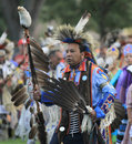 Pow wow man dancer american indian dancing at a Royalty Free Stock Photography