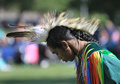 Pow wow man dancer face american indian s dancing at a Stock Image