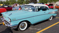 Powder Blue & White 1957 Chevy Bel Air Stock Photography