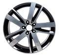 Powder coating of black wheel disk Royalty Free Stock Photo