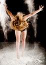 Powder contemporary dancer Royalty Free Stock Photo