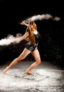 Powder contemporary dancer hands Royalty Free Stock Photo