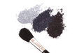 Powder eyeshadow makeup and brush Royalty Free Stock Photo
