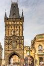 Powder gate the building prague czech republic Stock Photography