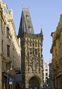 Powder gate in prague the gothic tower Stock Photography