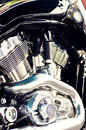 Powefull motorcycle engine Stock Images