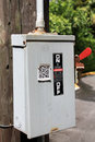 Power box outside Royalty Free Stock Photo