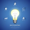 Power bulb infographics chart illustration of in business Stock Photography