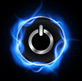 Power button design Royalty Free Stock Images