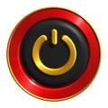 Power button icon Royalty Free Stock Photo