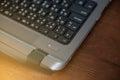 Power button on laptop Royalty Free Stock Photo