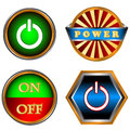 Power buttons set Stock Image
