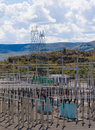 Power distribution substation Stock Photography