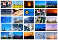 Power and energy concepts collage of Royalty Free Stock Photos