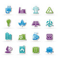 Power, energy and electricity icons Stock Photo