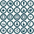 Power and energy icon set Stock Images