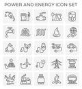 Power energy icon