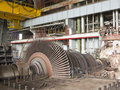 Power generator and steam turbine during repair at plant Royalty Free Stock Image