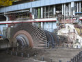 Power generator and steam turbine during repair at plant Stock Photo