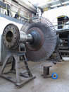 Power generator steam turbine during repair at power plant process Royalty Free Stock Photos