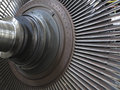 Power generator steam turbine during repair at power plant process Stock Photo