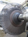 Power generator steam turbine during repair at power plant process Royalty Free Stock Image