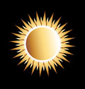 Power gold sun logo design Royalty Free Stock Photo