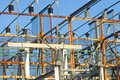 Power grid electrical substation structure