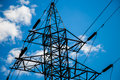 Power grid pylon Royalty Free Stock Photo