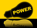 Power Lightbulb Represents Energy Energize And Powered Royalty Free Stock Photo