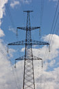 Power line tower Royalty Free Stock Images