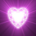 Power of love heart glowing flare Stock Images