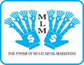 Power of mlm multi level marketing hand business concept icon Stock Image