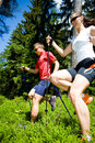 Power nordic walking Royalty Free Stock Photo