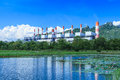 Power plant and environment Royalty Free Stock Photo