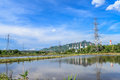 Power plant and environment at north of thailand Stock Image