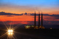 Power plant generation in the dusk Royalty Free Stock Images