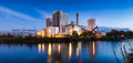 Power plant panorama hannover stöcken of stöken by germany at evening Stock Photos