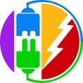 Power plug logo Royalty Free Stock Photo