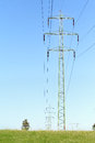 Power pole and blue sky Stock Photography
