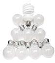 Power saving up electric lamp Royalty Free Stock Photo