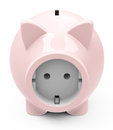 The power socket d generated picture of a piggy bank with Stock Images
