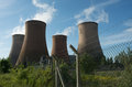 Power station cooling towers Royalty Free Stock Photo