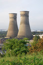 Power station cooling towers at Tinsley Sheffield Royalty Free Stock Photo