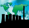 Power Station and Green world Royalty Free Stock Photo