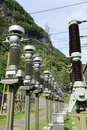 Power station making Electricity from a hydroelectric plant Royalty Free Stock Photo